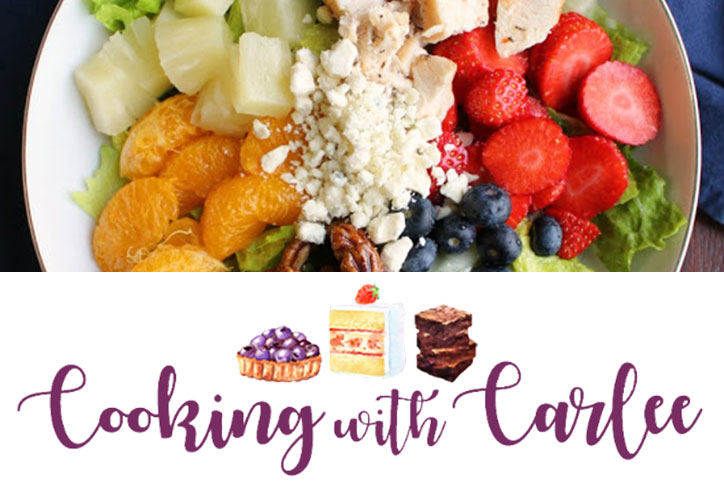 cooking with carlee fruit & chicken salad