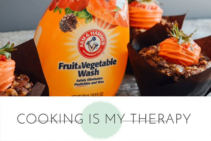 arm & hammer fruit & vegetable wash with carrot muffins
